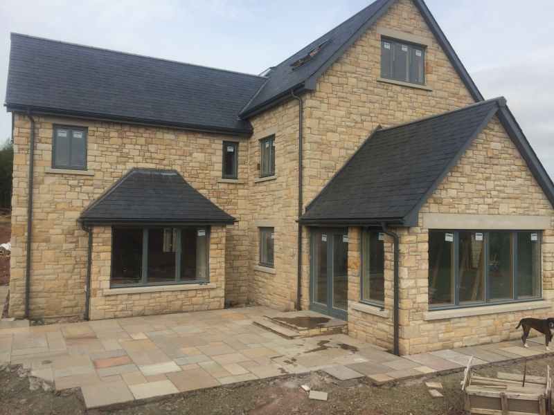 New build natural stone gibson hall for New homes to build